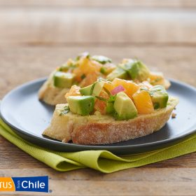 Orange Avocado Bruschetta