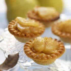 Roasted Ontario Pear, Shallot and Cumin Tartlets