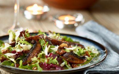 Portobello Mushroom and Walnut Salad