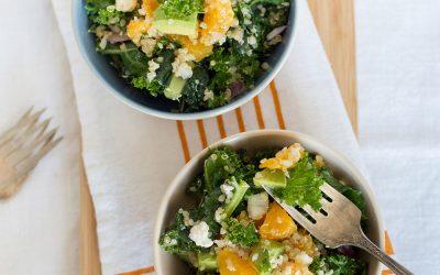 Warm Quinoa Kale & Orange Salad