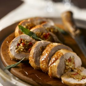 Savoury Mushroom Stuffed Pork Tenderloin