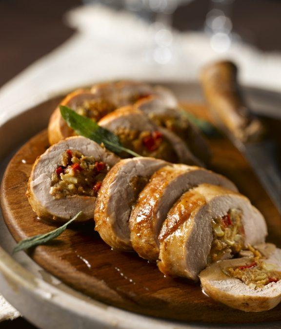 Savory Mushroom Stuffed Pork Tenderloin