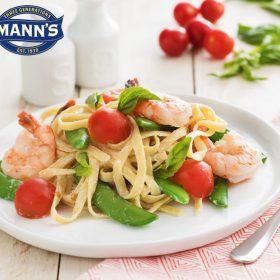 Shrimp & Basil Fettuccini