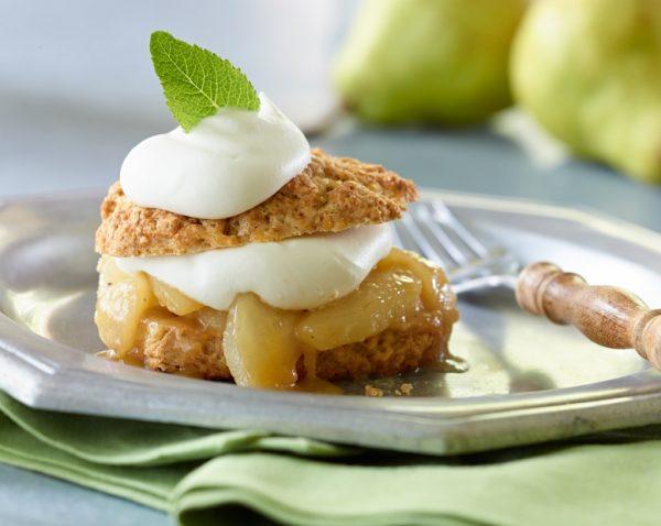 Spiced Ontario Pear Shortcakes