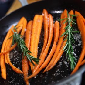 Roasted Carrots with Clover Honey