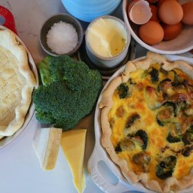 Broccoli and Gouda Quiche