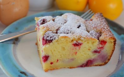 Lemon Raspberry Ricotta Cake