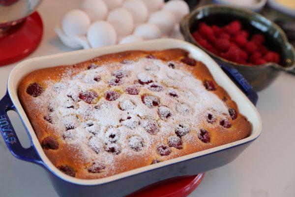 Lemon Raspberry Ricotta Cake