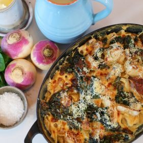 Turnip and Spinach Gratin photo
