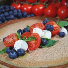Blueberry Caprese Salad closeup WEB