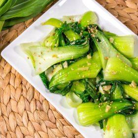 Garlic Stir Fried Bok Choy Cropped