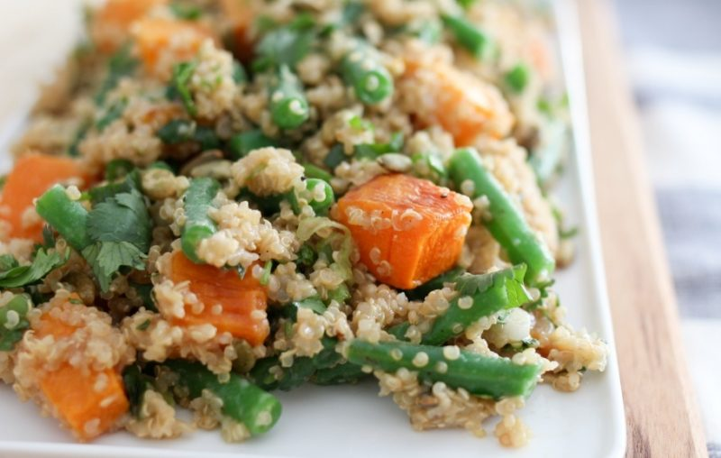 Green Bean & Squash Quinoa Bowl