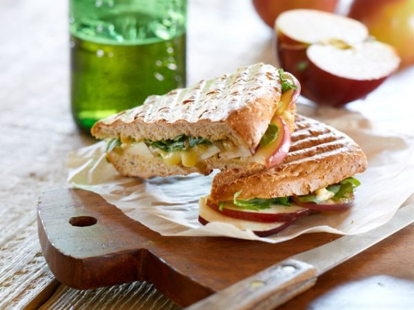 Apple Brie Arugula Panini