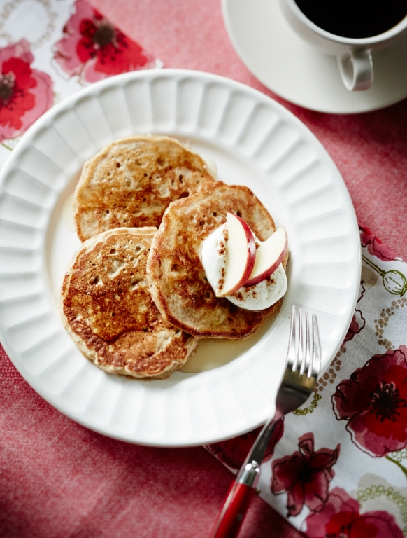 ontario apple oatmeal pancakes