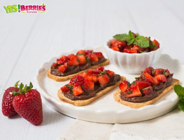 Strawberry Chocolate Bruschetta