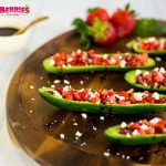 Mini Cucumber Strawberry Boats