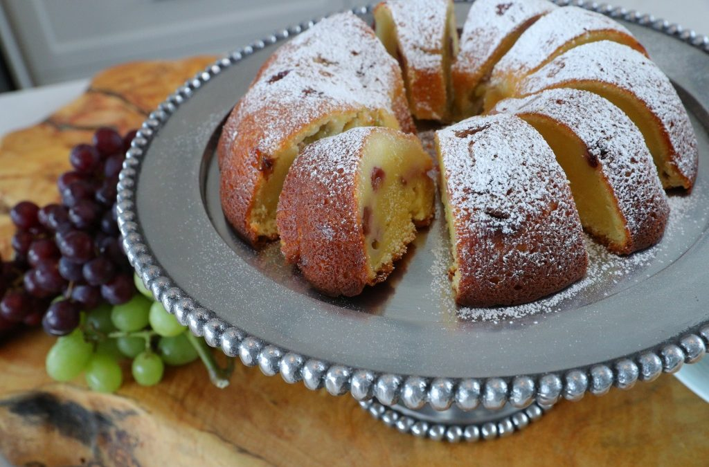 Ricotta Pound Cake with Fresh Grapes