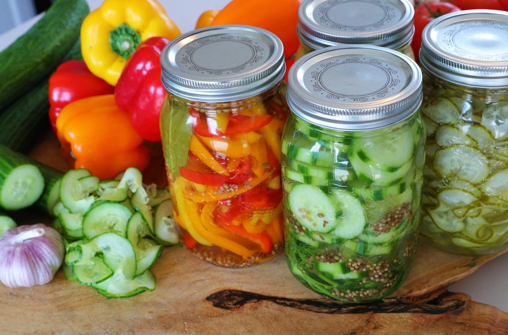 Pickled Ontario Greenhouse Peppers and Cucumbers