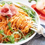 Spaghetti with Red Pepper Sauce