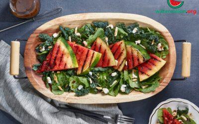 Grilled Watermelon & Kale Salad