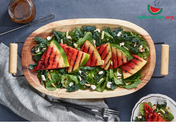 Grilled Watermelon & Kale Salad