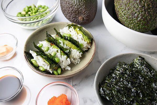 Avocado Sushi Tacos