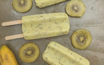 SunGold Kiwifruit Coconut Popsicles