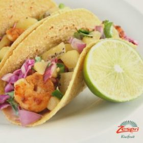 Shrimp Tacos with Kiwi Salsa