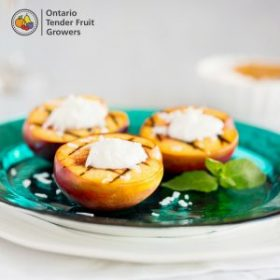Grilled Nectarines with Whipped Coconut Cream