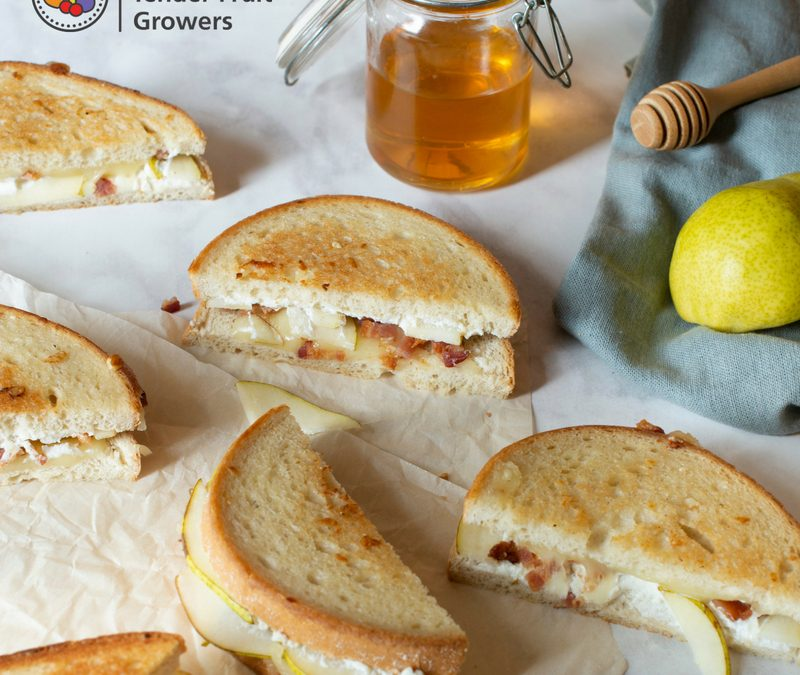Bartlett Pear & Bacon Grilled Cheese