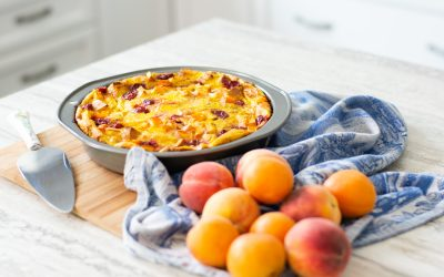 Peach, Apricot and Cherry Strata