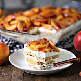 Peach Icebox Cake with Caramel HERO WEB