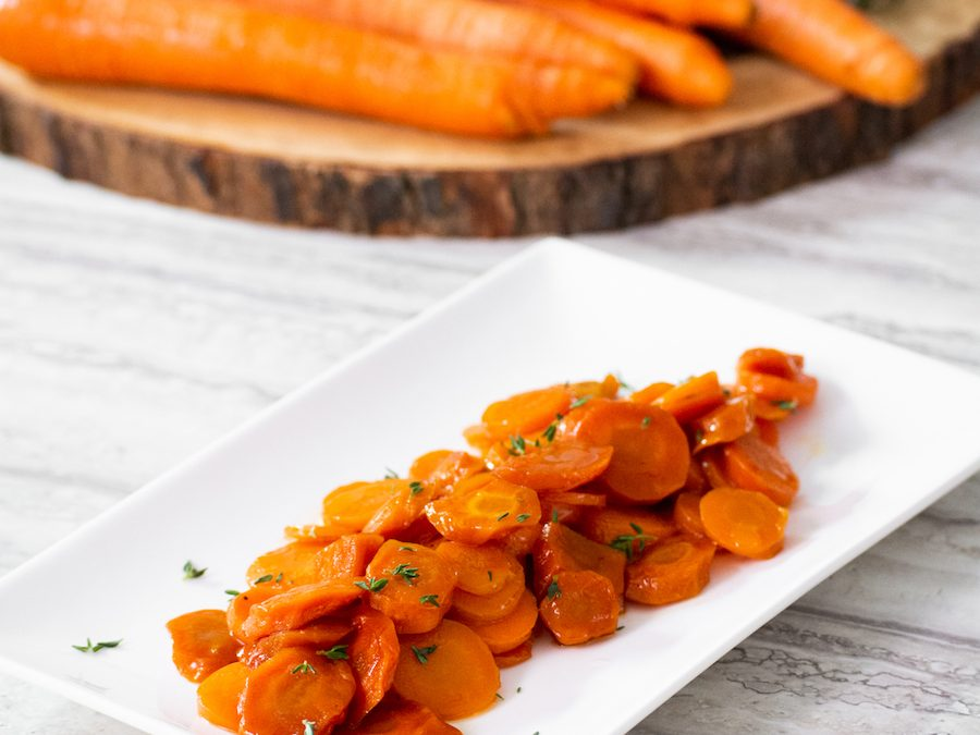 Brown Sugar and Bourbon-Glazed Carrots