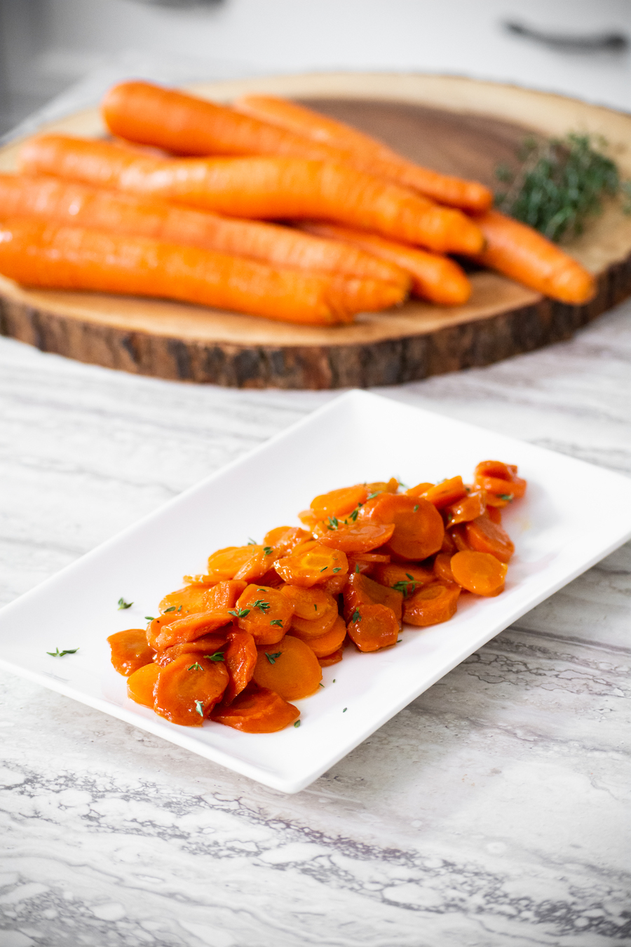Brown Sugar Bourbon Glazed Carrots