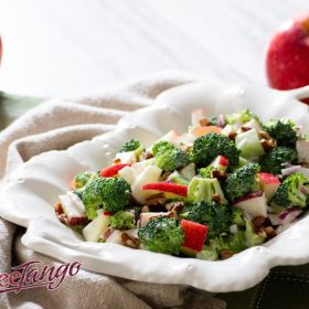 Vegan Broccoli and SweeTango Apple Salad