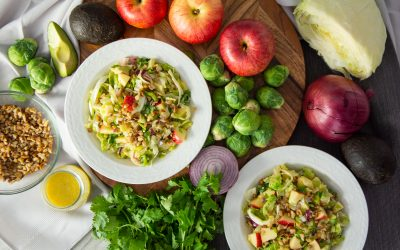 Hearty Brussels Sprouts and Cabbage Salad