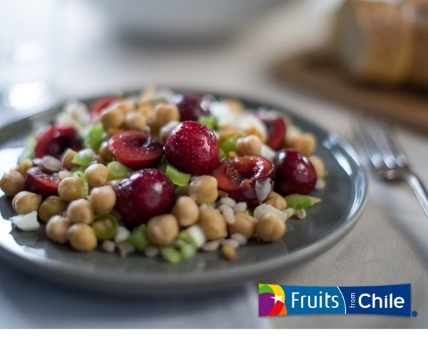Barley Chickpea Cherry Salad