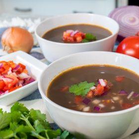 black bean soup instant pot