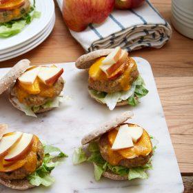 Cheddar Apple Turkey Sliders