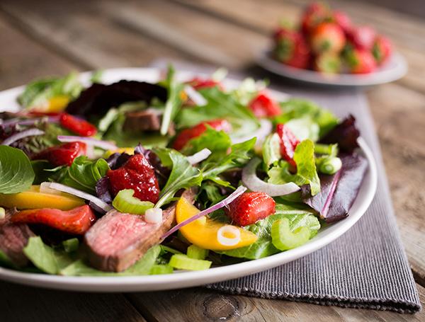 Strawberry and Steak Salad