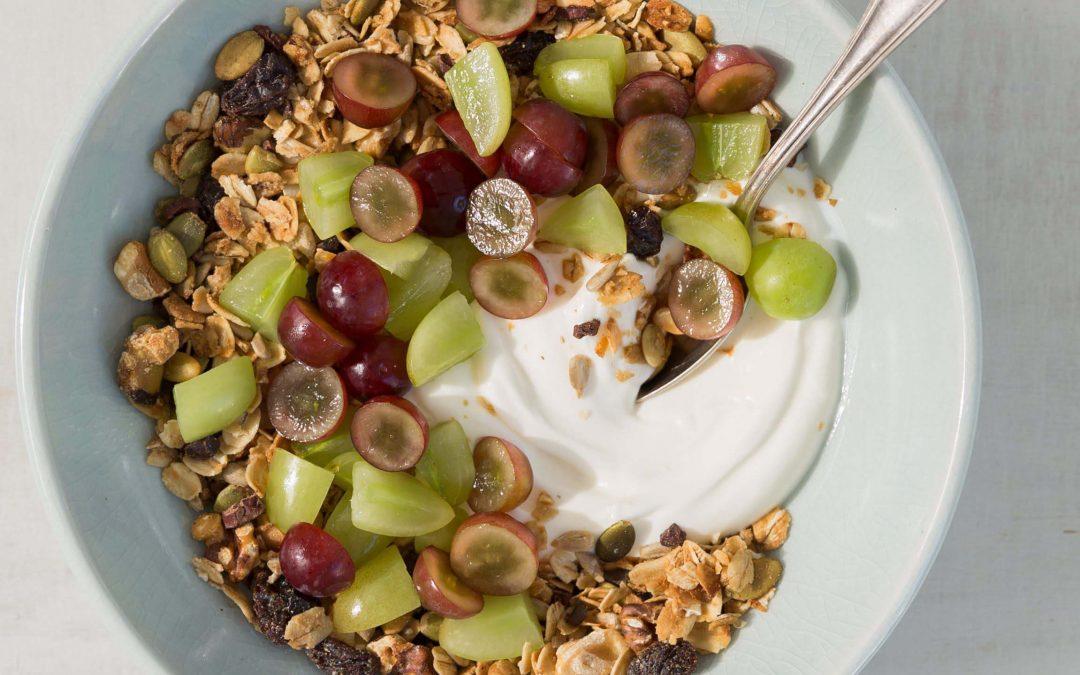 Grape and Granola Breakfast Bowl