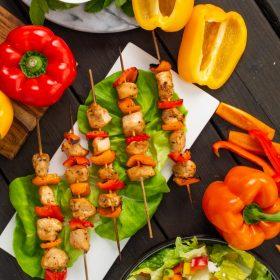 Ontario Greenhouse Pepper and Chicken Souvlaki