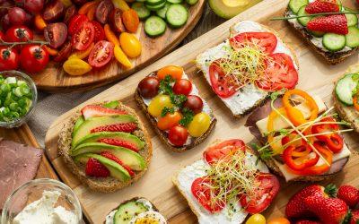 Open-Faced Ontario Greenhouse Veggie Sandwiches