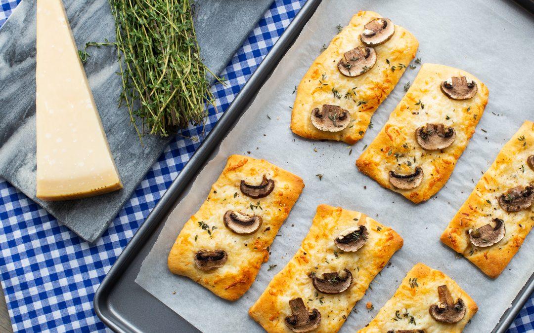 Mushroom Pizzettes