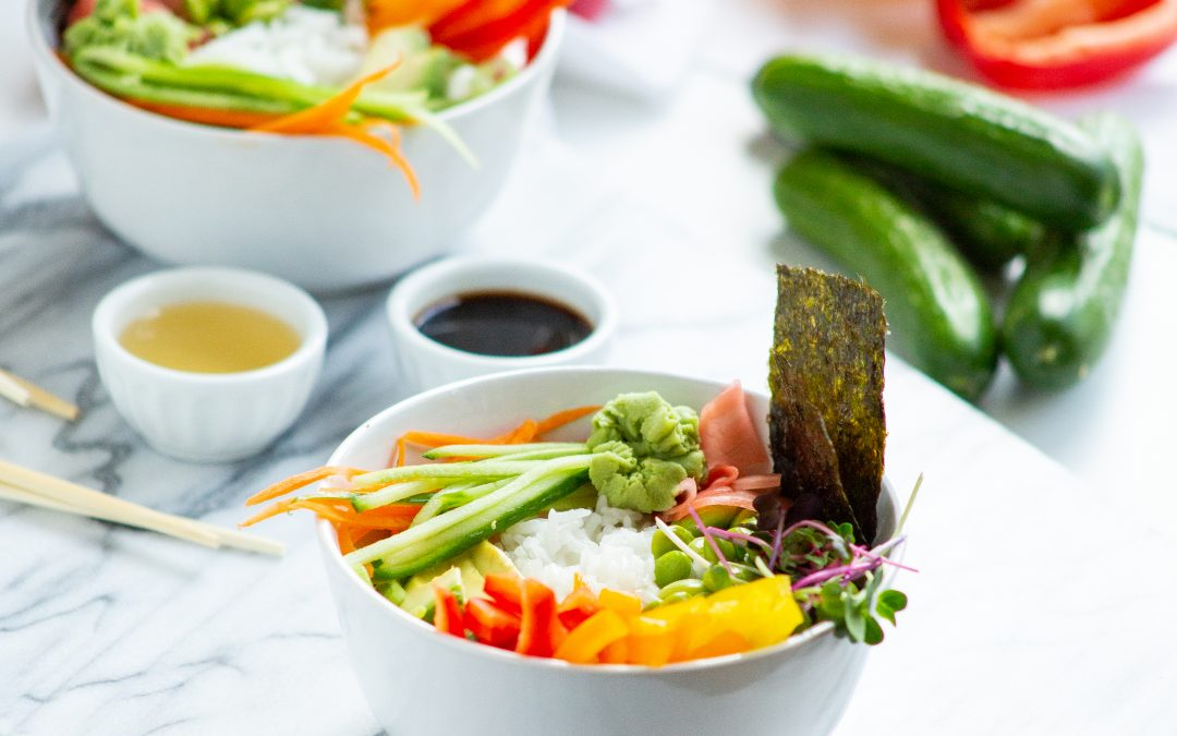 Deconstructed Vegan Sushi Bowl