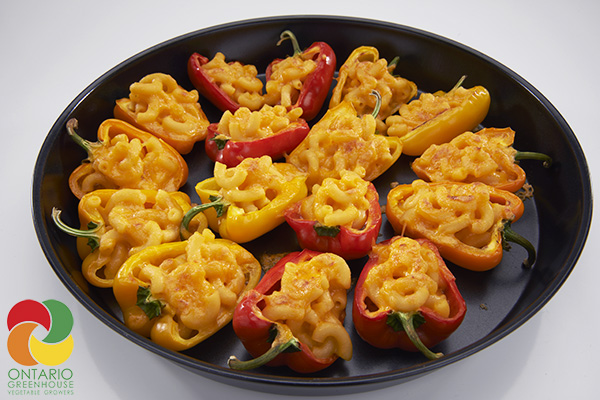 Mac and Cheese-Stuffed Mini Peppers