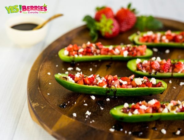 Cucumber Strawberry Boats