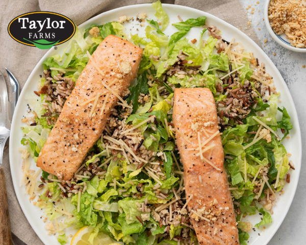 Chopped Caesar Salad salmon