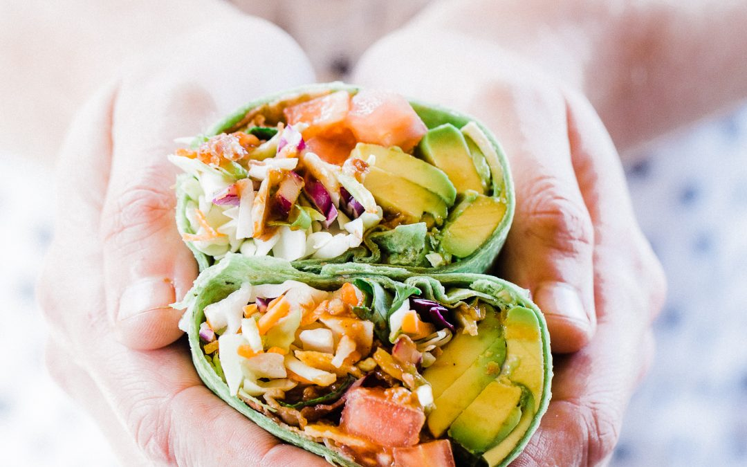 Barbecue BLT Avocado Sandwich Wrap