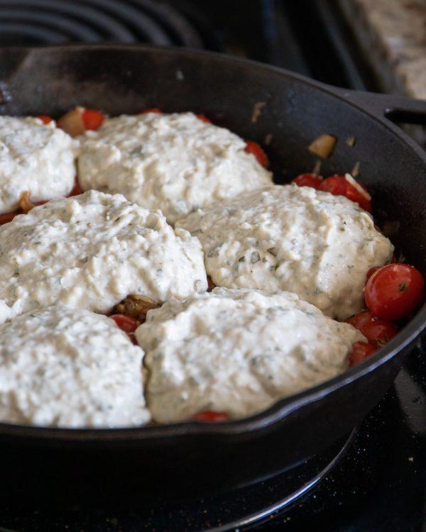 vegan tomato cobbler
